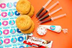 filled diy donut kit with bueno and nute