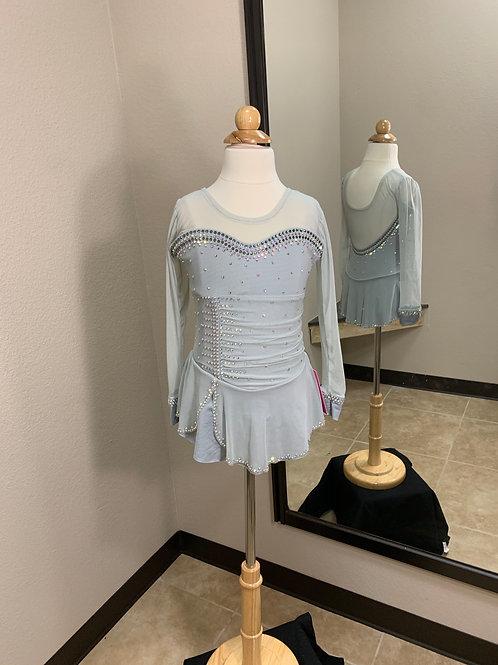 Child 8- Light Grey Beaded Dress!