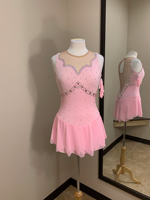 Adult Medium- Light Pink Beaded Dress!