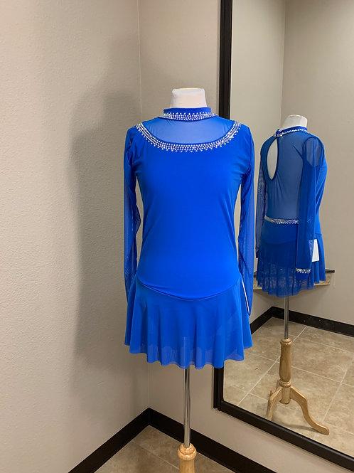 Adult XL- Royal Blue Long Sleeve Beaded Dress!