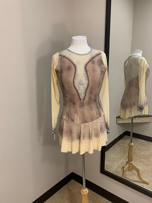 Adult Medium- Multi- Colored Airbrush Beaded Dress!