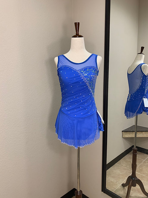 Adult XS- Dark Sky Blue Beaded Dress!