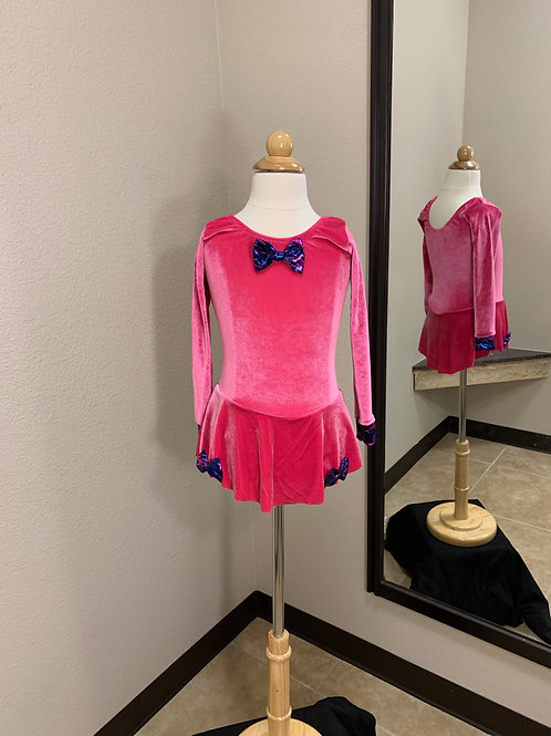 Child XXS, XS, S, M & L Raspberry with Blue and Pink Bows dress!