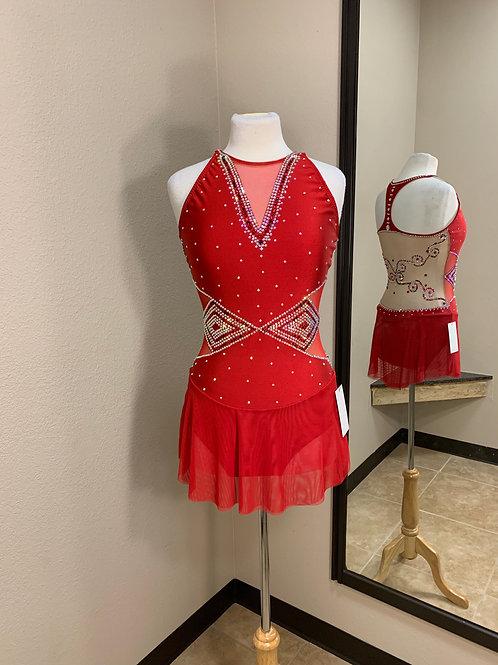 Adult Medium- Red Beaded Dress!