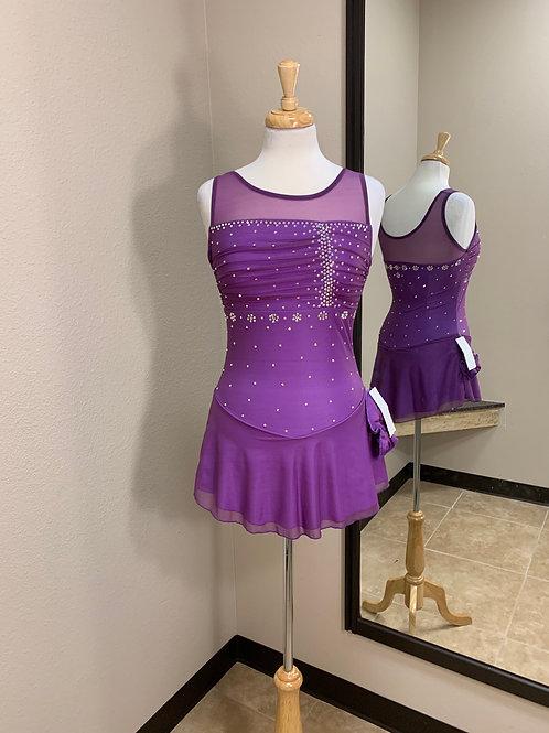 Adult Medium- Dark Purple Beaded Dress!