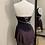 Thumbnail: Adult Small- Black & Pink Beaded Dress