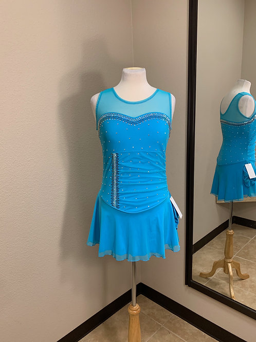 Adult XL- Turquoise Beaded Dress!