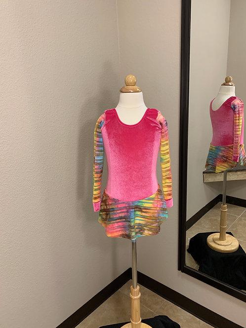 Child XXS, XS, S, M & L Raspberry Rainbow Dress!