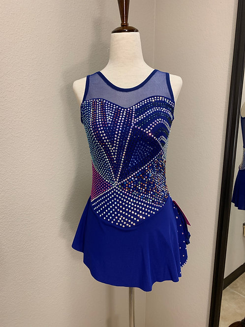 Adult XS- Navy Blue Beaded Dress!