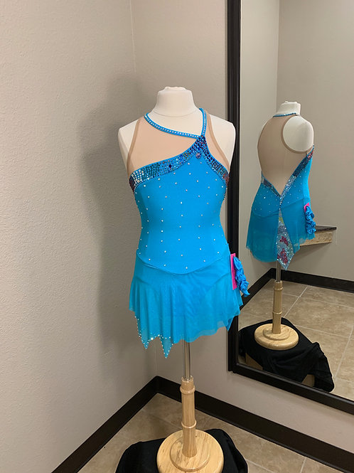 Child 12-14- Turquoise Beaded Dress!