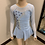 Thumbnail: Child 8- Light Blue & Silver Foil Sparkly Dress