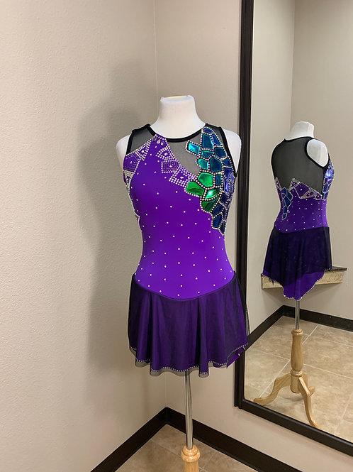 Adult Medium- Purple with Black Beaded Dress!