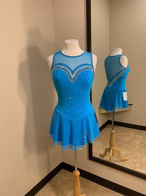 Adult Medium- Robin Egg Blue Beaded Dress!
