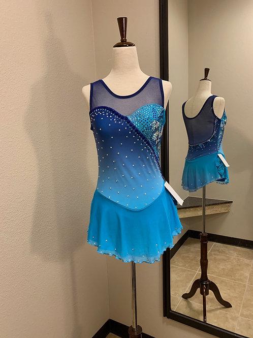 Adult XS- Blue Ombré Dress!