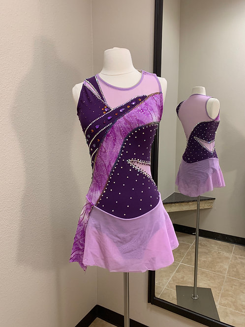 Adult Small- Eggplant with Cutouts Beaded Dress!