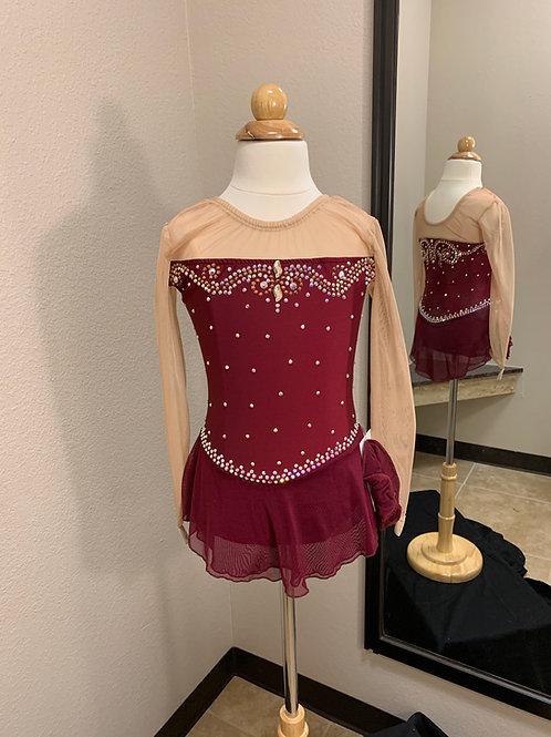Child 8- Burgundy Beaded Dress!