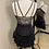 Thumbnail: Adult Small- Black Lace Ice Skating Dress!