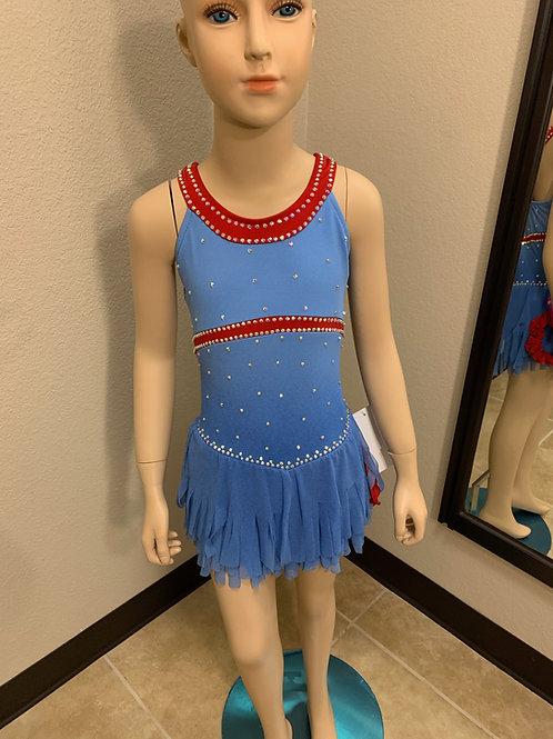 Child 6-8- Blue & Red Dress!
