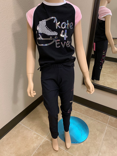 Child M & L- Black Ice Skating T-Shirt!