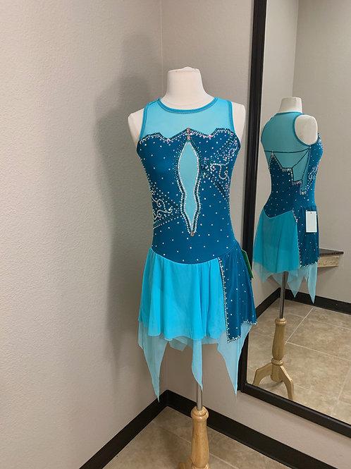 Adult Large- Dark Jade Beaded Dress!