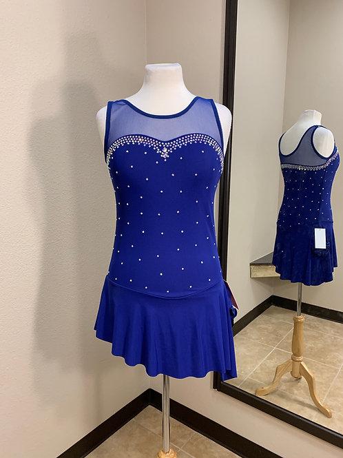 Adult Large- Navy Blue Beaded Dress!