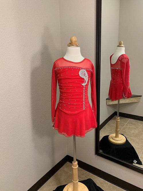 Child 10- Red Beaded Dress!