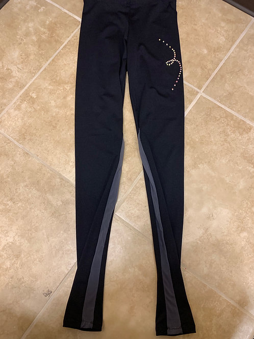 Adult Small- Black with Grey Inserts Skating Pants!
