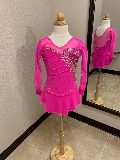 Child 8- Hot Pink Beaded Dress!