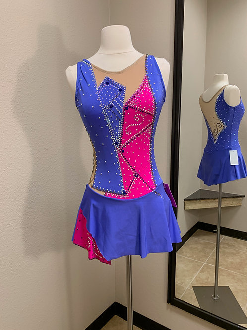 Adult Small- Purple & Pink Beaded Dress!