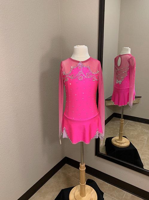 Child 10- Hot Pink Beaded Dress!
