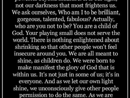 Shine your light.