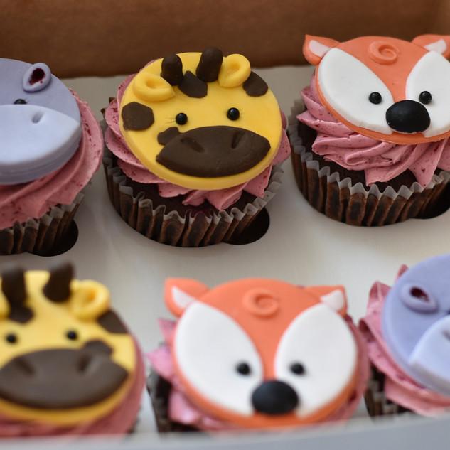 Animal theme cupcakes