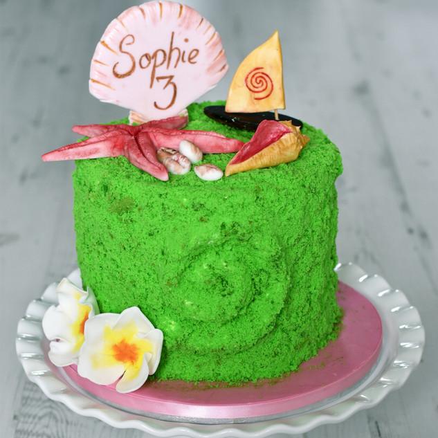 Moana theme cake