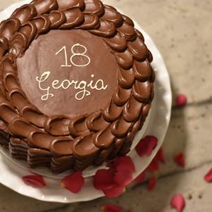 Luxurious Chocolate Raspberry cake