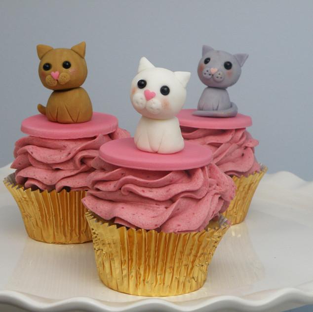 Kitten cupcakes