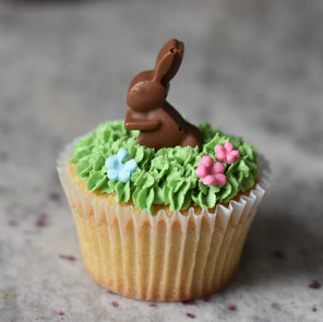 Easter choc bunny cupcakes