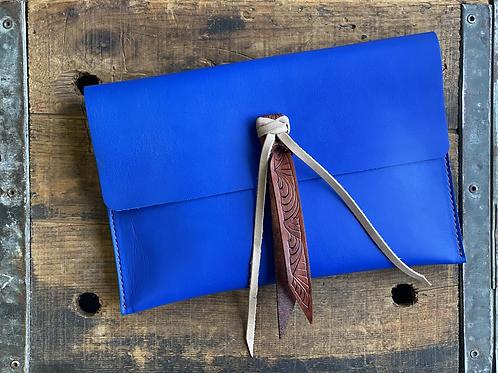 Brilliant Blue Clutch