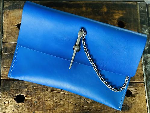 Dagger Clutch in Brilliant Blue