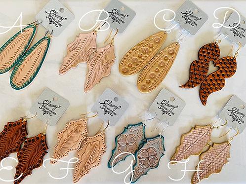 Handtooled Earrings - Fall Lineup