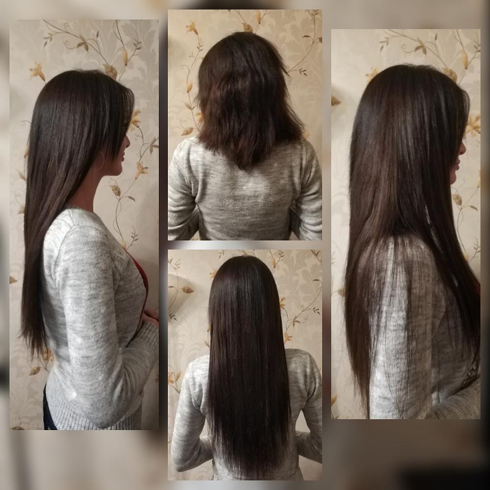 Микро-капсульное наращивание волос студии yoohair.ru