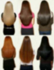 Наращивание волос коллаж yoohair