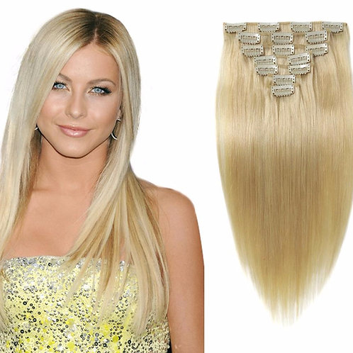 Волосы на заколках прямые 60 см