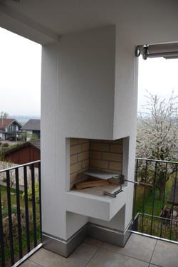 Gartengrill auf Balkon