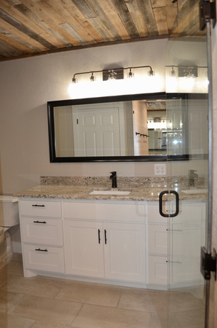 Front view of master bath.