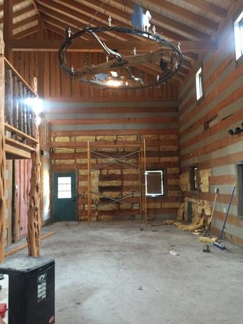 Demolition - kitchen area