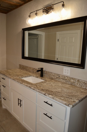 New master vanity areas.