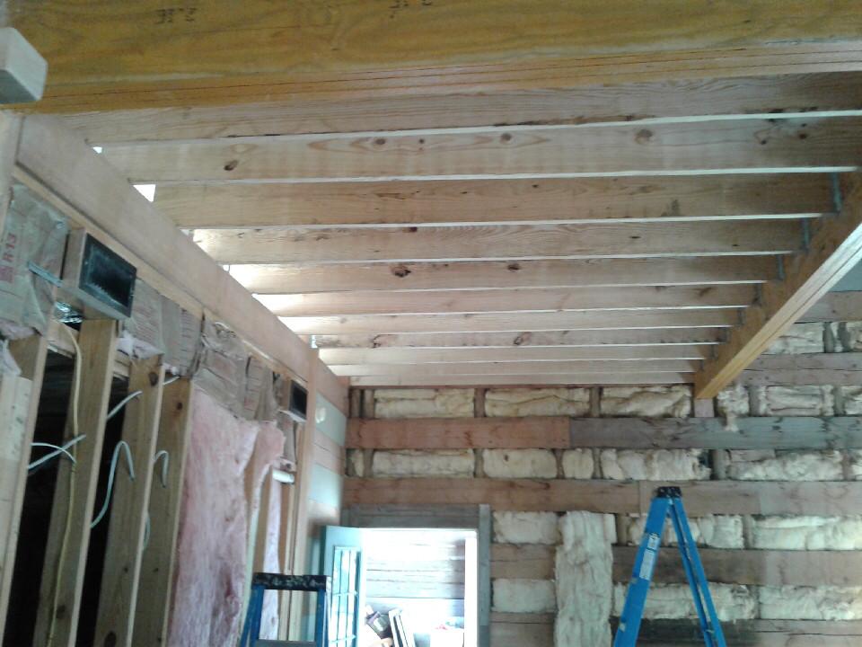 Loft Beams Going Up!