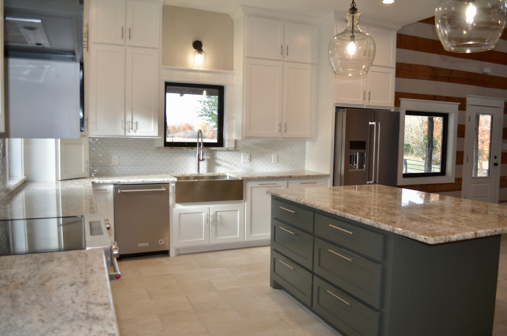 Renovated kitchen.
