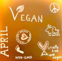 April VEGAN month board