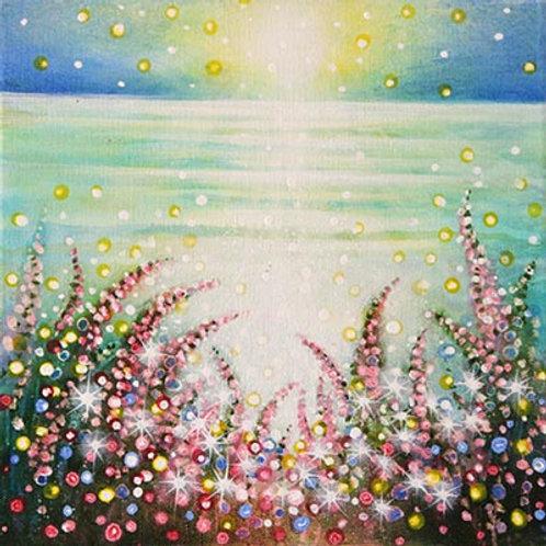 Bright Night & wild Flowers    (Painting)